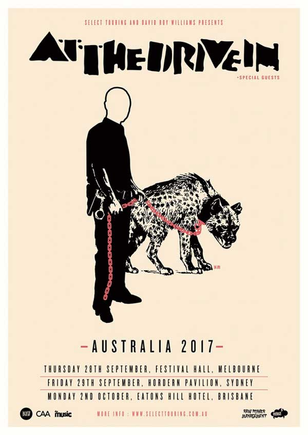 At The Drive In Australian Tour Poster