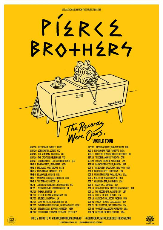 Pierce Brothers Tour Poster