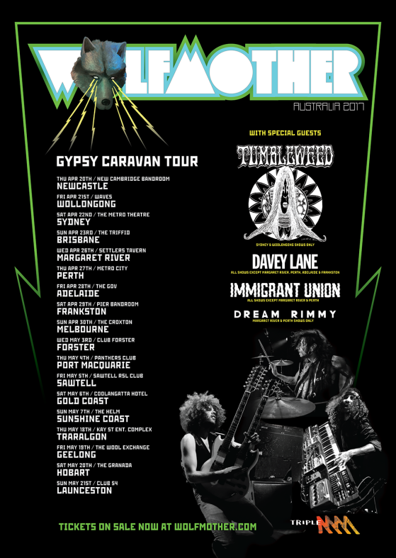 Wolfmother Australian Tour Poster