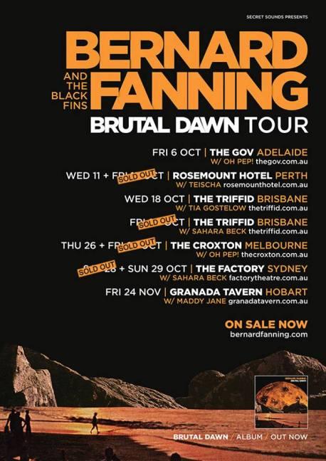 Bernard Fanning Tour Poster 2