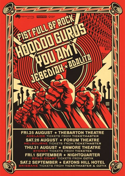 Fist Full Of Rock Tour Poster