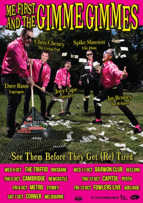 Me First & The Gimme Gimmes Tour Poster 1
