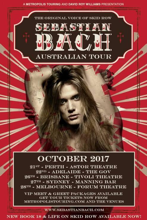 Sebastian Bach Tour Poster
