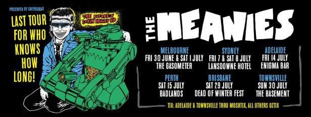 The Meanies Tour Banner