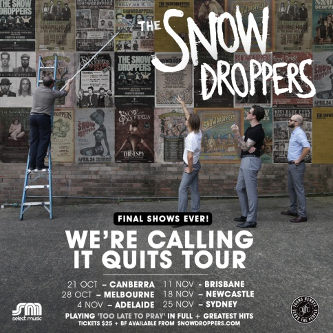 The Snowdroppers Tour Poster