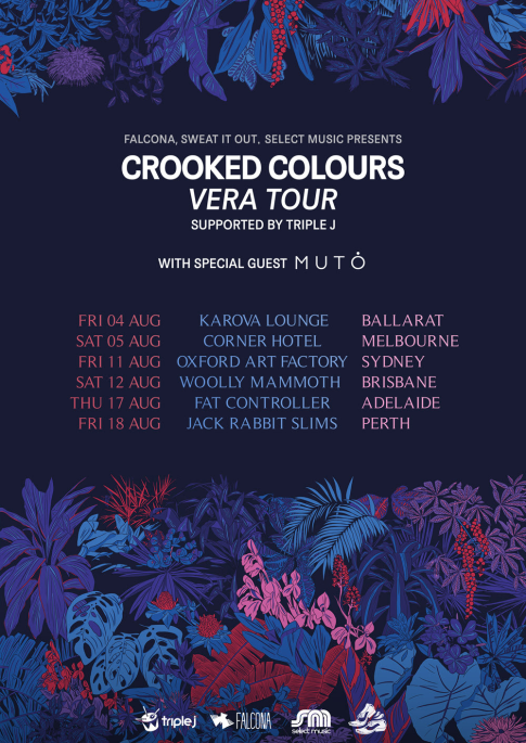 Crooked Colours Tour Poster