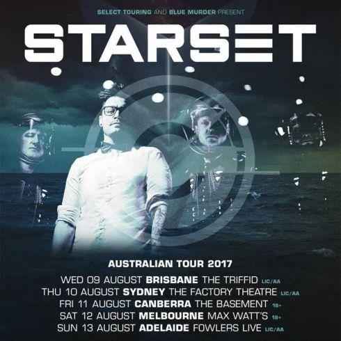 Starset Australian Tour Poster