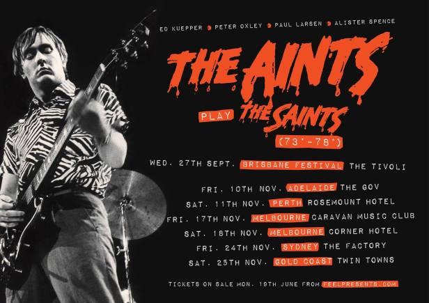 The Aints Tour Banner