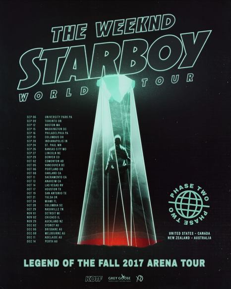 The Weeknd World Tour Poster