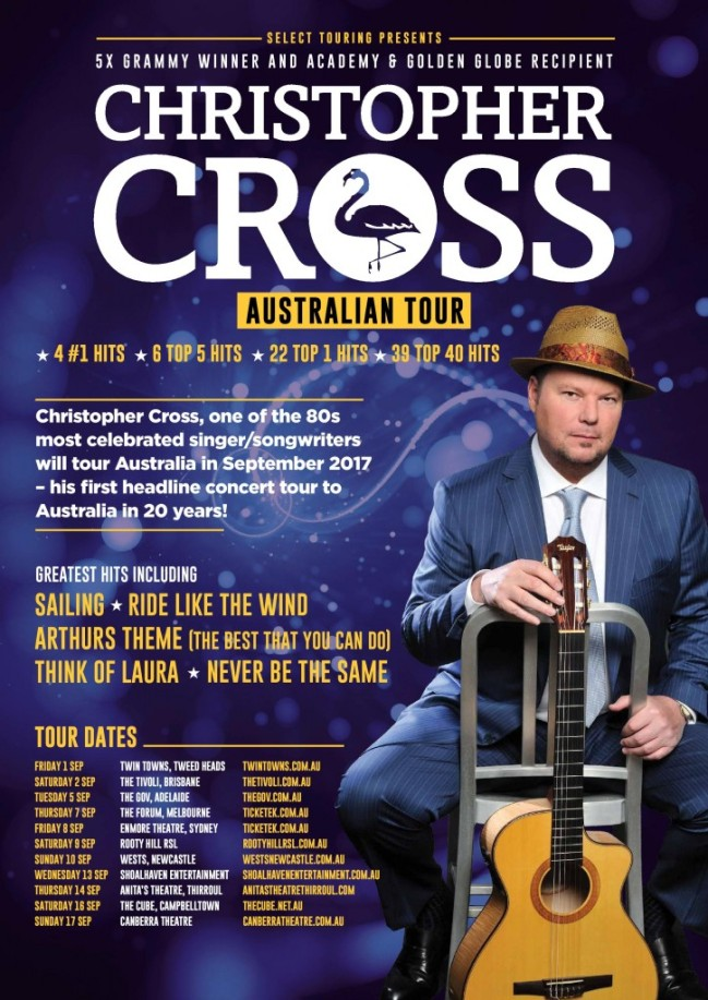 Christoper Cross Australian Tour Poster