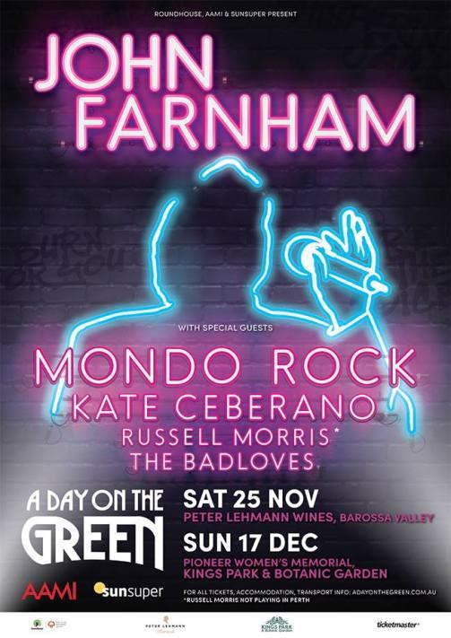John Farnham ADOTG Tour Poster