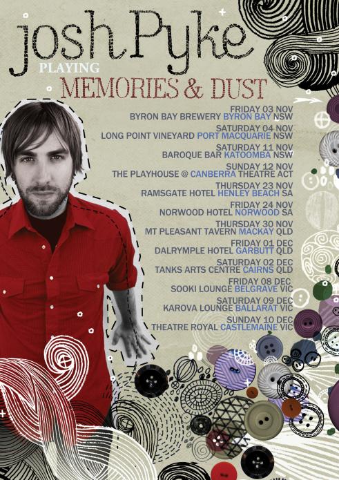 Josh Pyke Memories & Dust Tour Poster.png