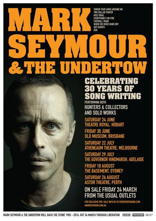Mark Seymour Tour Poster