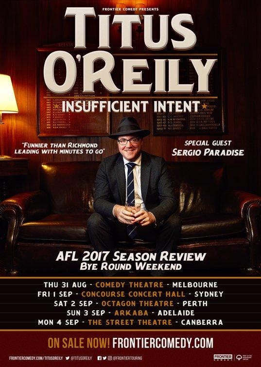 Titus O'Reily Tour Poster