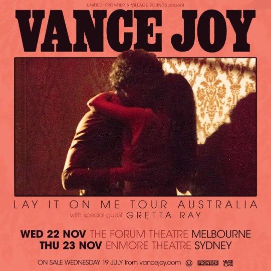 Vance Joy Tour Poster