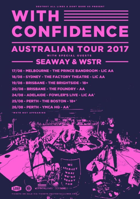 With Confidence Australian Tour Poster