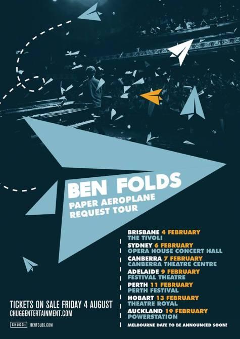 Ben Folds Australian Tour Poster