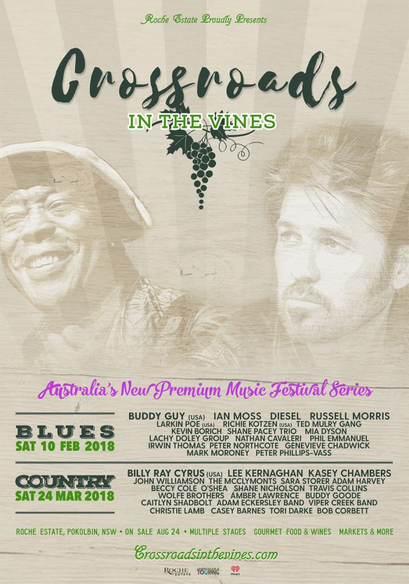 Crossroads In The Vines Tour Poster