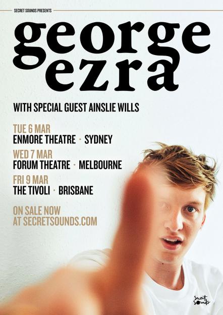 George Ezra Australian Tour Poster