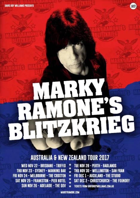 Marky Ramone Tour Poster