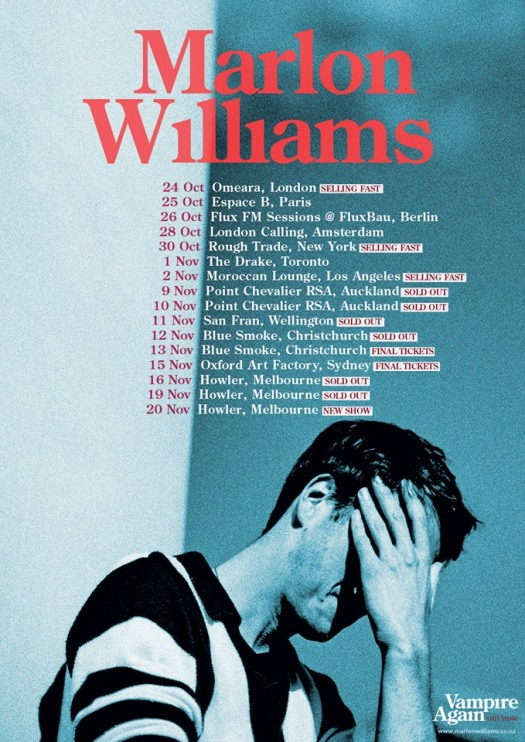 Marlon Williams Single Launch Shows