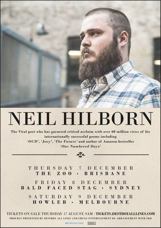 Neil Hilborn Tour Poster