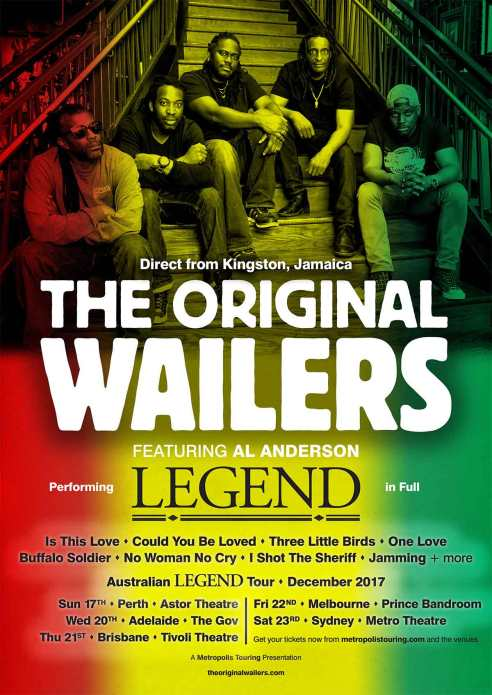 The Original Wailers Tour Poster