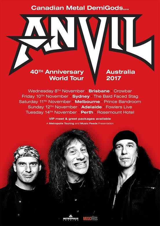 Anvil Tour Poster