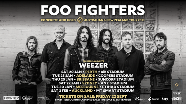 Foo Fighters Australian Tour Poster