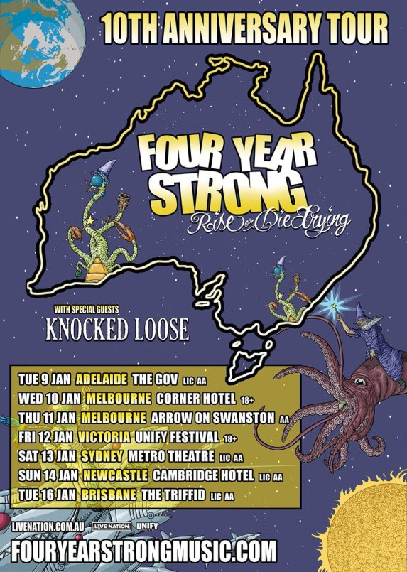 Four Year Strong Tour Poster