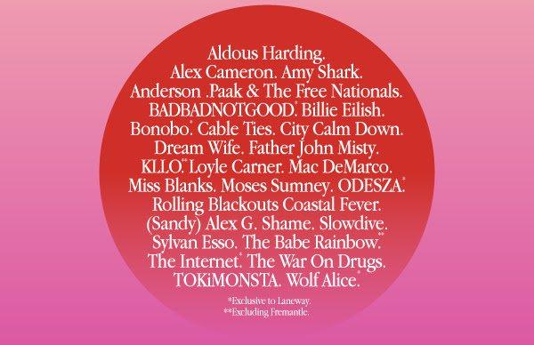 Laneway Festival Line Up