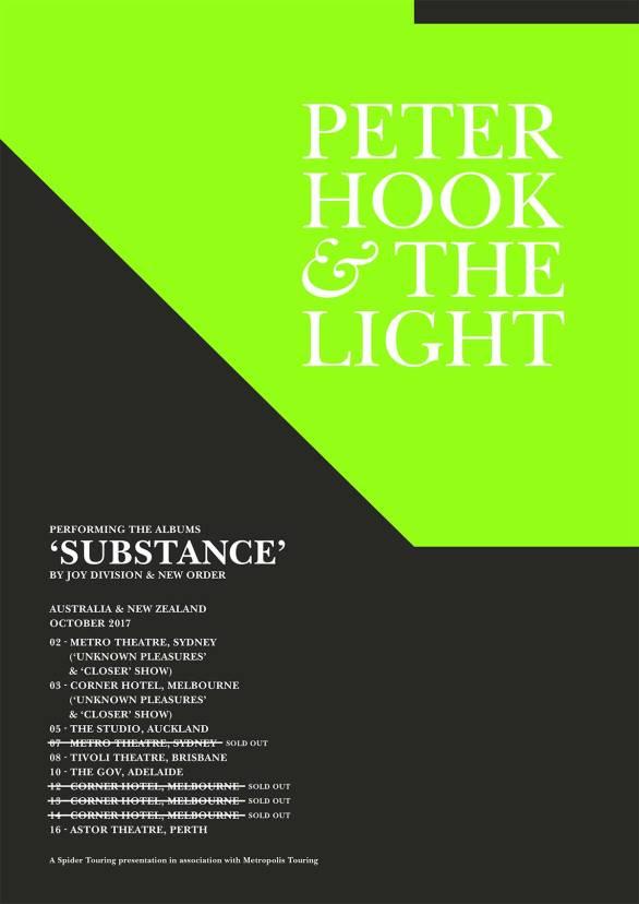 Peter Hook Tour Poster