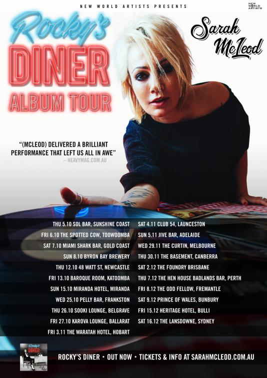 Sarah McLeod Tour Poster