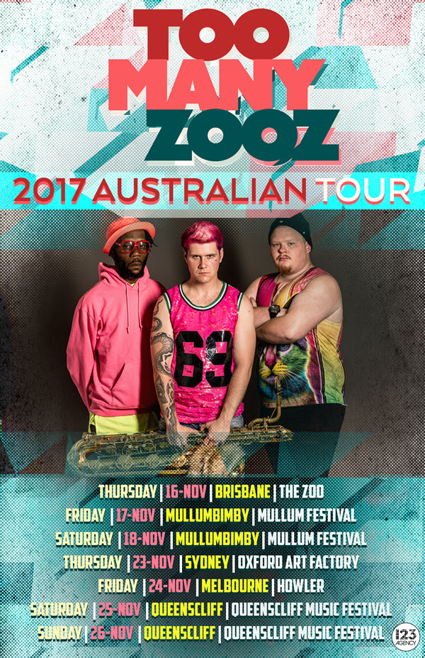 Too Many Zooz Tour Poster