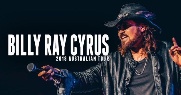 Billy Ray Cyrus Australian Tour Banner