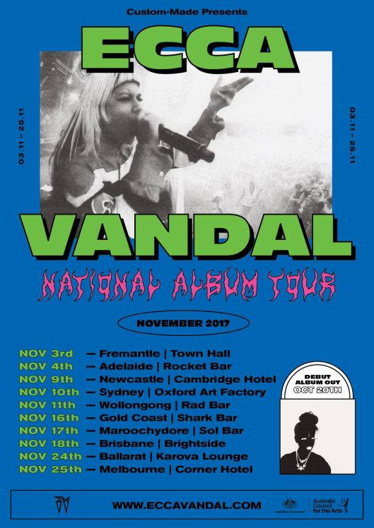 Ecca Vandal Tour Poster