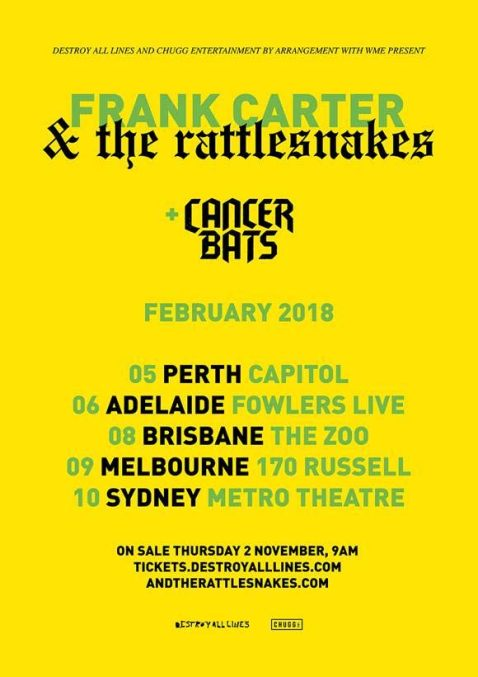 Frank Carter Tour Poster