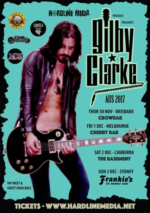 Gilbey Clarke Tour Poster
