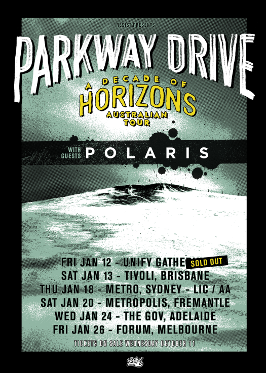 Parkway Drive Tour Poster