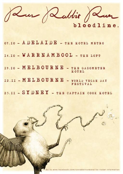 Run Rabbit Run Tour Poster