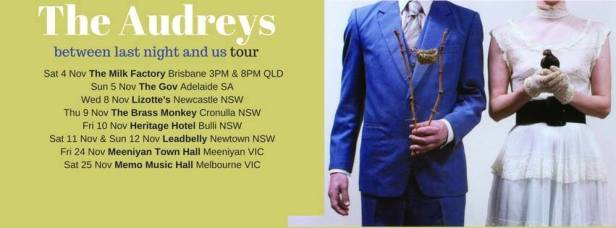 The Audreys Tour Banner