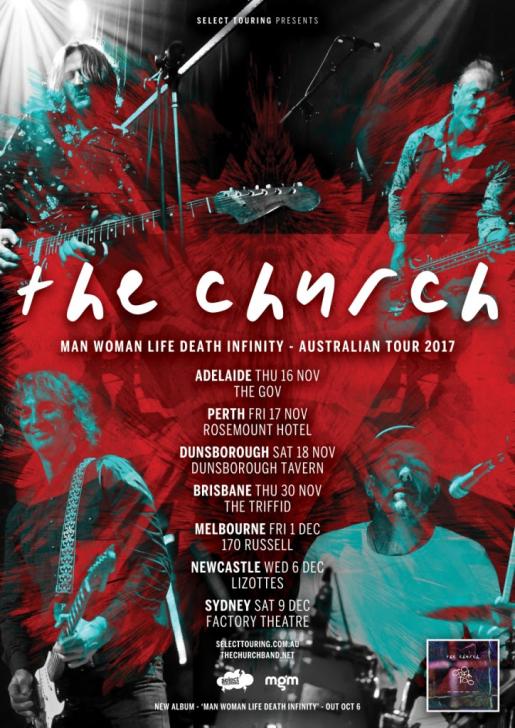 The Church Australian Tour Poster