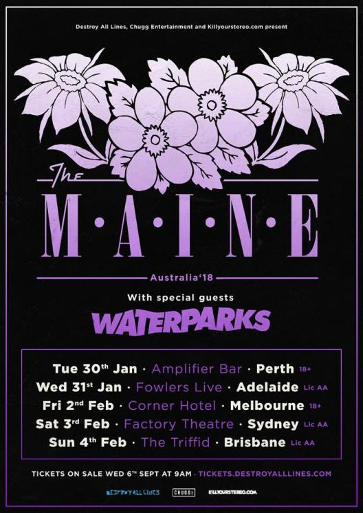 The Maine Australian Tour Poster