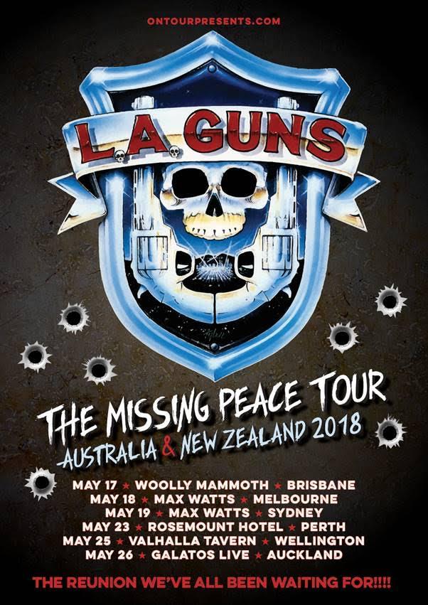 LA Guns Tour Poster