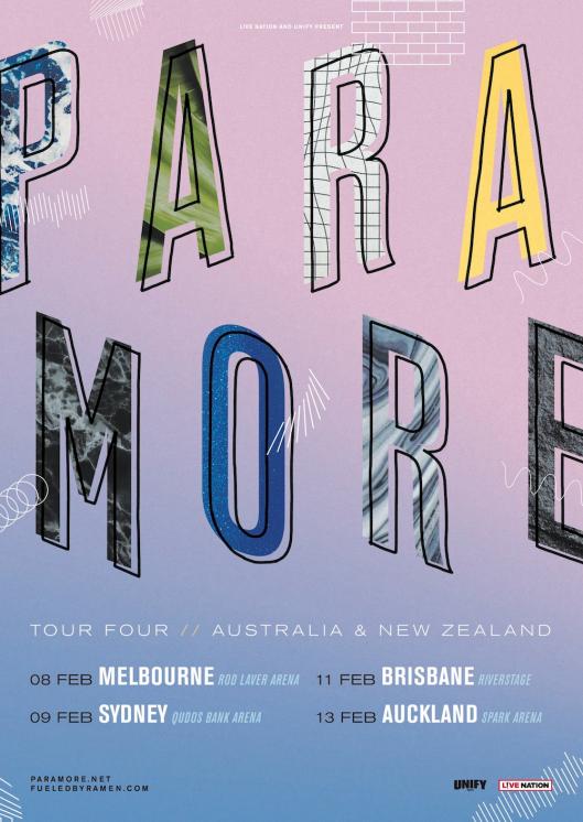 Paramore Australian Tour Poster