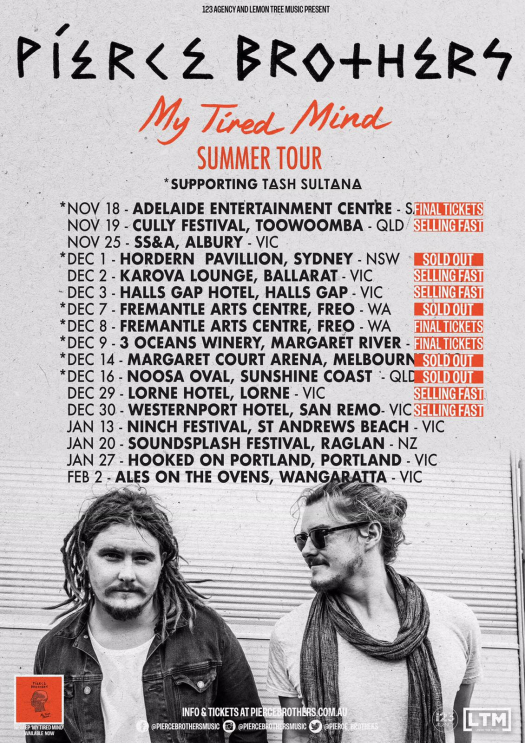 Pierce Brothers Tour Poster 2