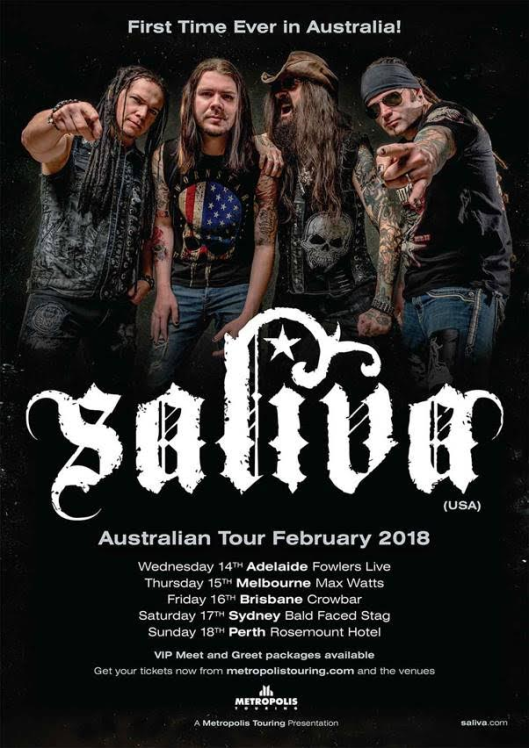 Saliva Tour Poster