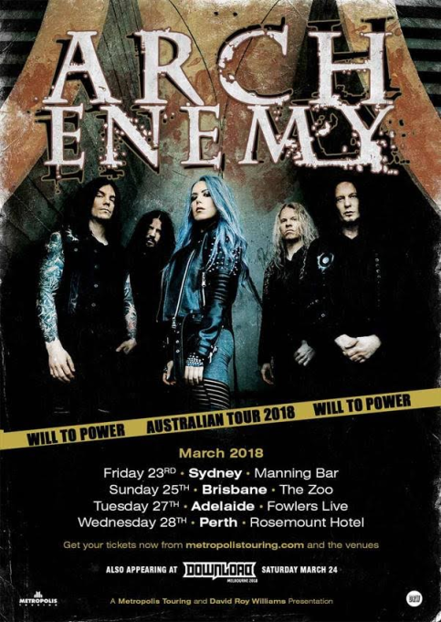 Arch Enemy Tour Poster