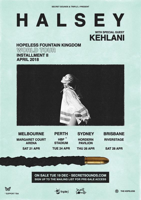 Halsey Tour Poster