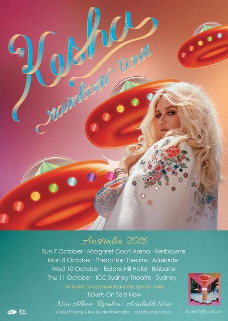 Kesha Australian Tour Poster Updated